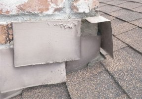 chimney flashing wrong installation-IMPROPERLY INSTALLED & DAMAGED FLASHING / more info